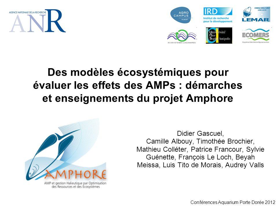 Conférences Aquarium Porte Dorée 2012 Des modèles écosystémiques pour évaluer les effets des AMPs : démarches et enseignements du projet Amphore Didie
