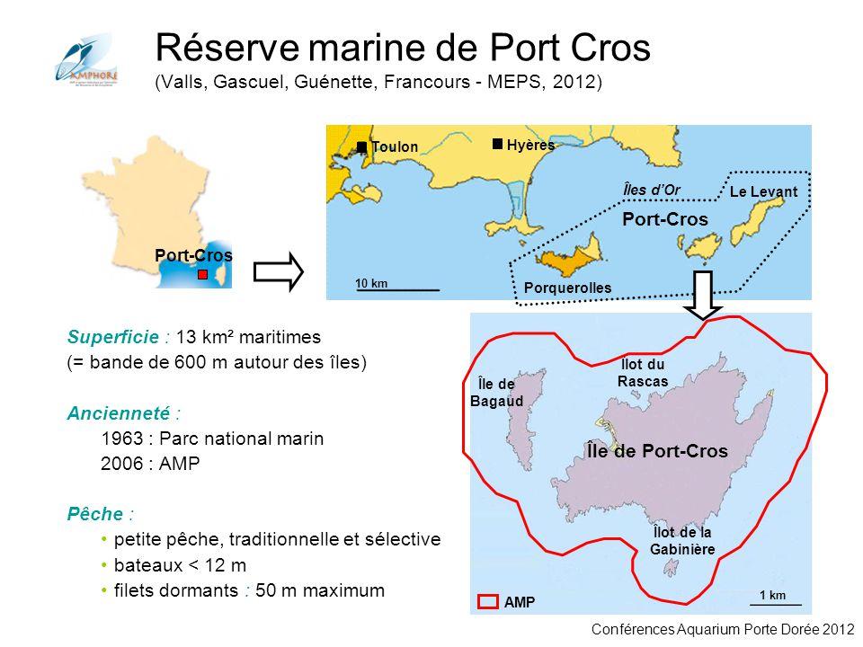 Conférences Aquarium Porte Dorée 2012 Port-Cros Toulon Port-Cros 10 km Hyères Porquerolles Le Levant Îles dOr 1 km Île de Port-Cros Île de Bagaud Îlot