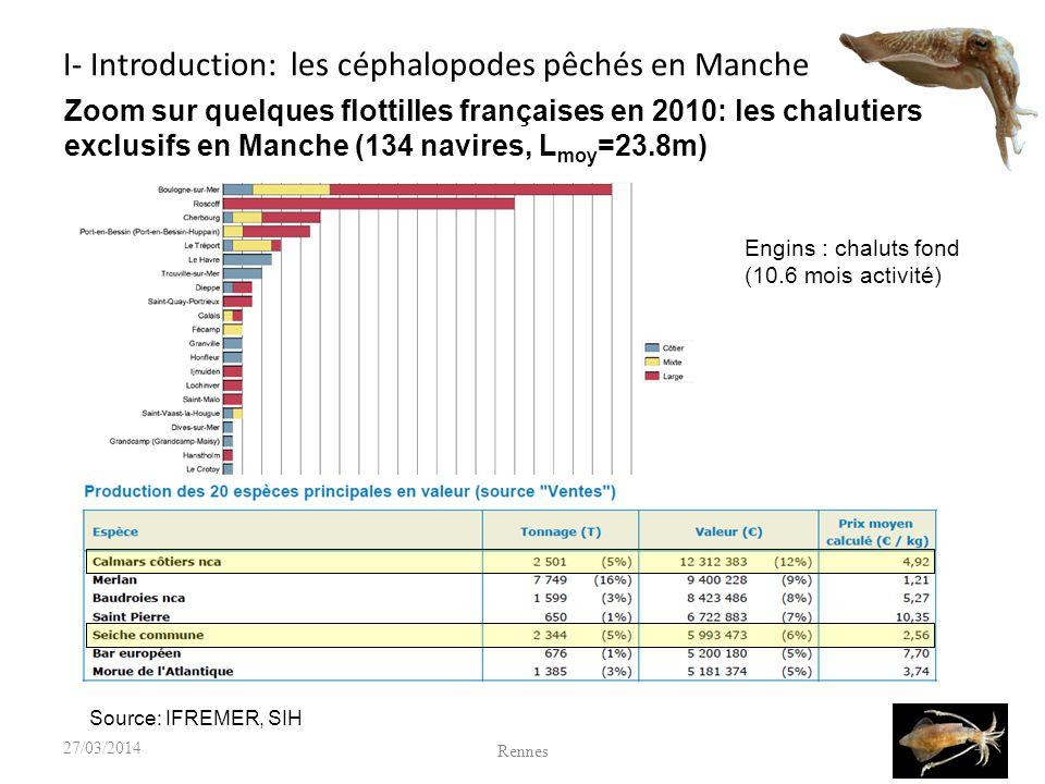 3 - Développements actuels : Le modèle de biomasse à deux stades pour la seiche D abord appliqué au calmar d Afrique du Sud Loligo reynaudi (Roel et Butterworth, 2000) mais aussi au hareng en mer d irlande (Roel et al., 2009) Utilise une simplification du cycle de Sepia officinalis et de son exploitation Vise un suivi en routine de l exploitation 15 Rennes 27/03/2014