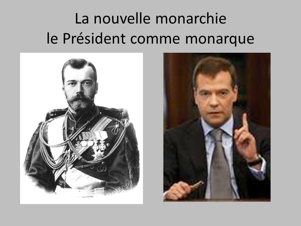 La nouvelle monarchie le Président comme monarque