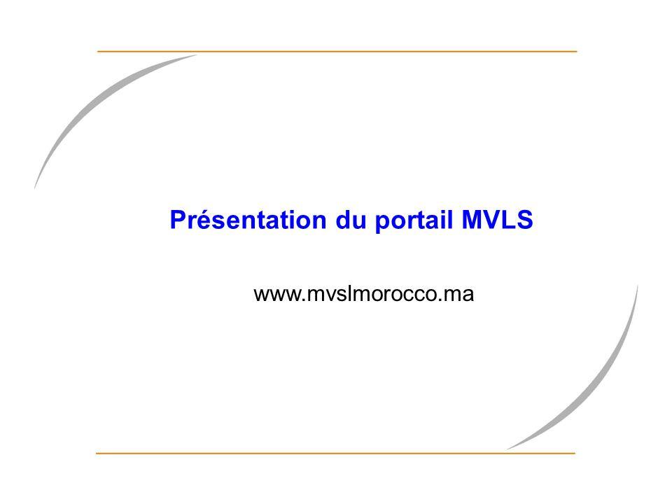 Présentation du portail MVLS www.mvslmorocco.ma