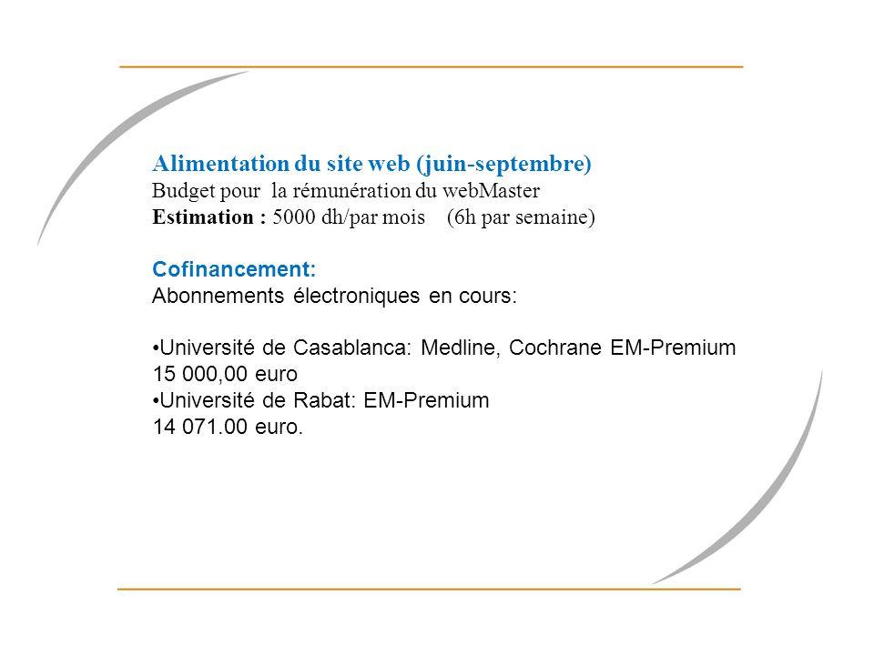 Proposition de réunion des partenaires: Réunion des collègues marocains le 29 juin 2011 Réunion des coordinateurs nationaux maghrébins durant le mois de septembre pour préparer le séminaire de diffusion Enquête ISTeMag: Réunions