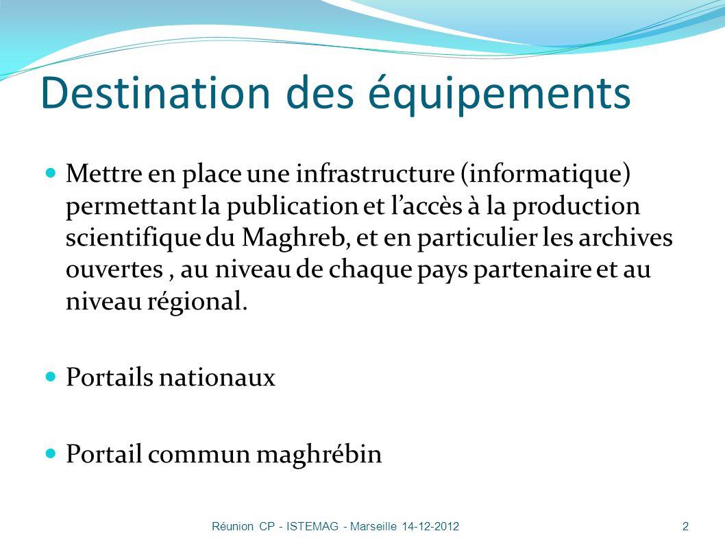 Solution Marocaine 13Réunion CP - ISTEMAG - Marseille 14-12-2012