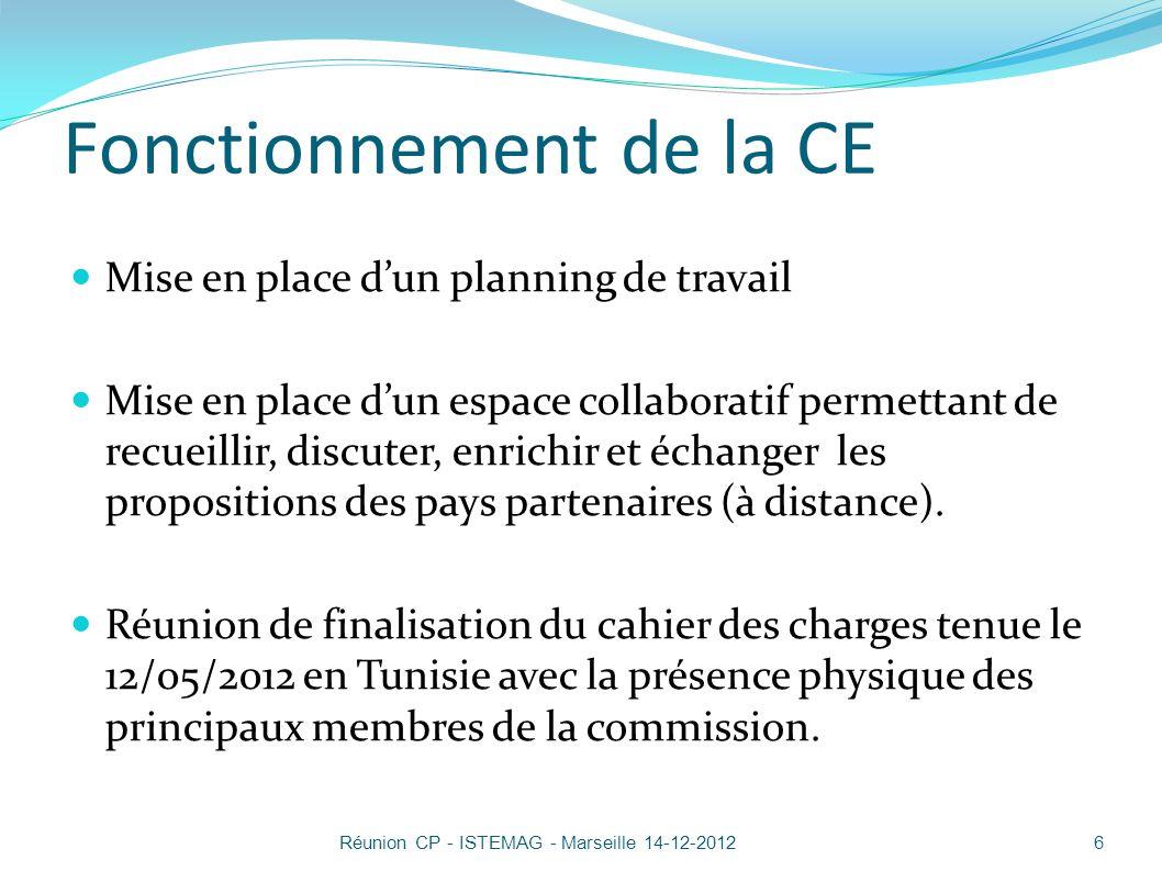 Stratégie régionale 17Réunion CP - ISTEMAG - Marseille 14-12-2012