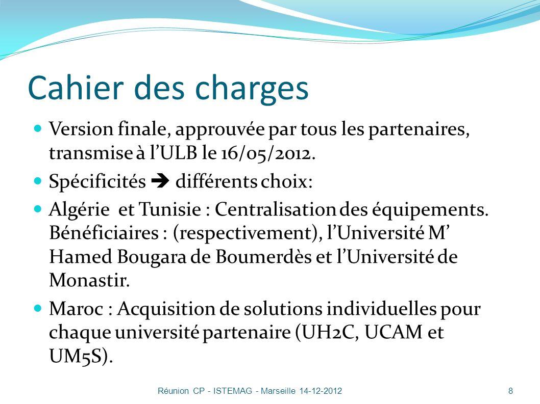 Bilan Fournisseur choisi : société SYSTEMAT en Belgique, sur accord de lEACEA.