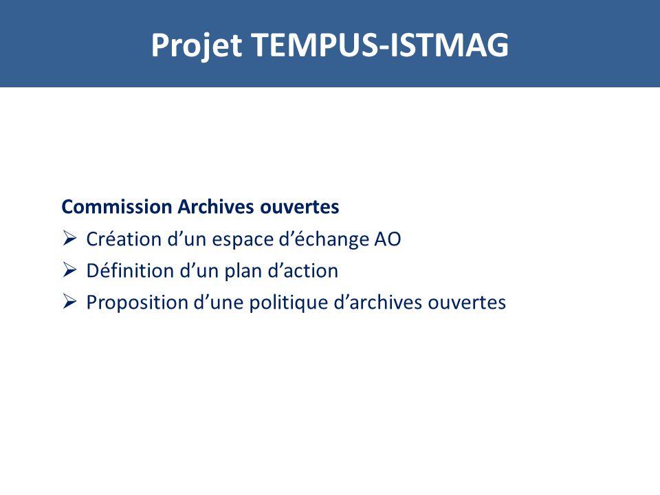 Tunisie Installation et paramétrage du logiciel Invenio Migration des références bibliographiques E TAPES DU PROJET
