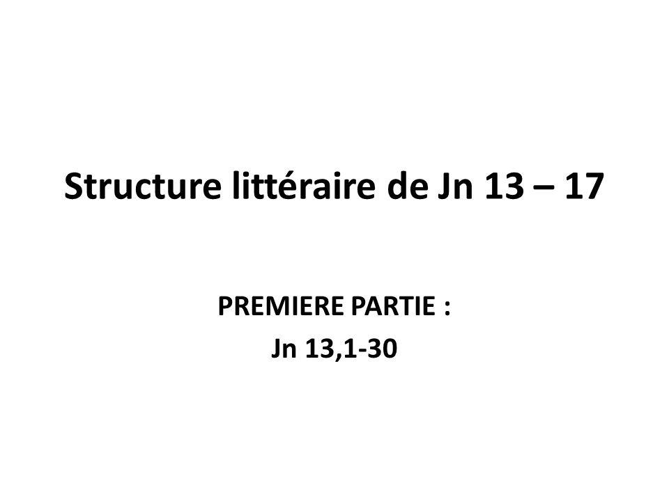 Structure littéraire de Jn 13 – 17 PREMIERE PARTIE : Jn 13,1-30
