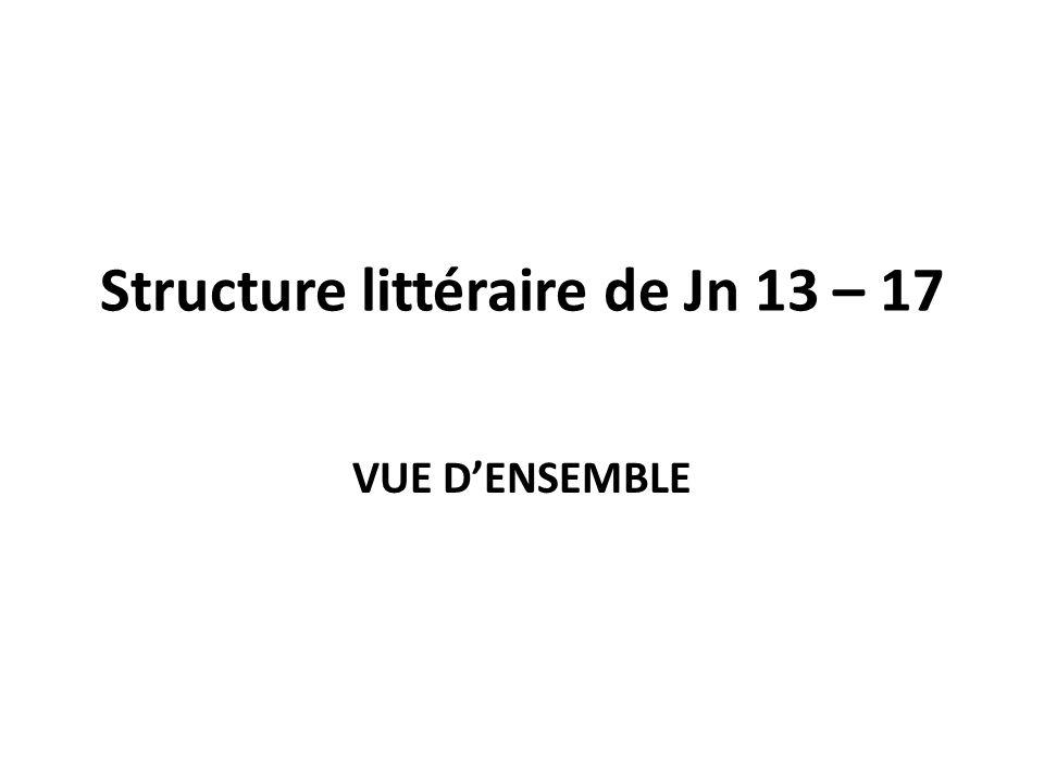 Structure littéraire de Jn 13 – 17 VUE DENSEMBLE