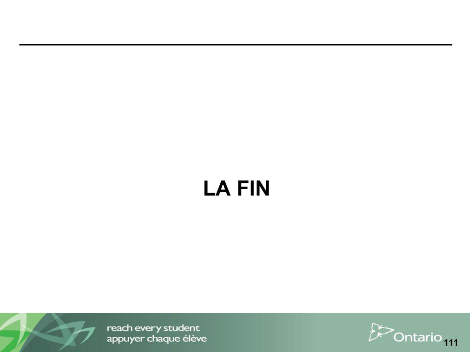LA FIN 111