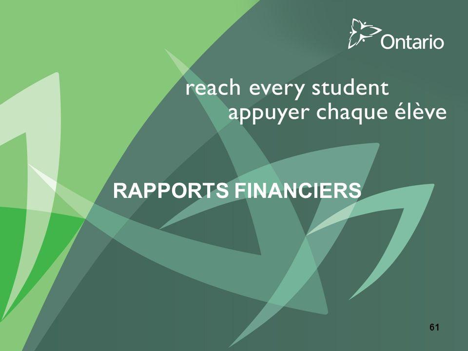 RAPPORTS FINANCIERS 61