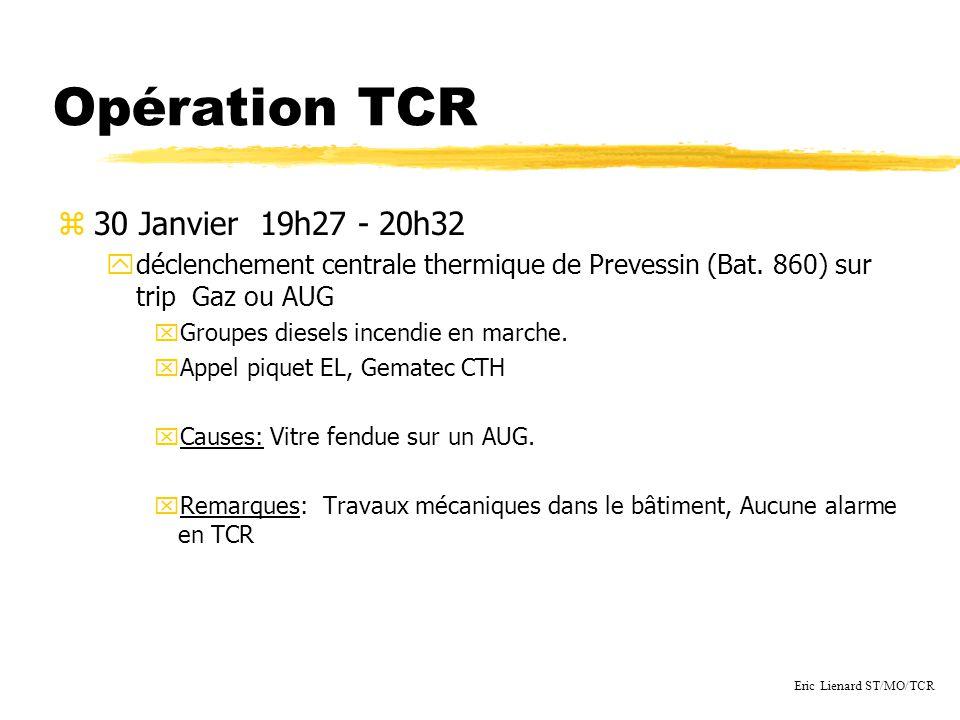 Opération TCR z30 Janvier 19h27 - 20h32 ydéclenchement centrale thermique de Prevessin (Bat.