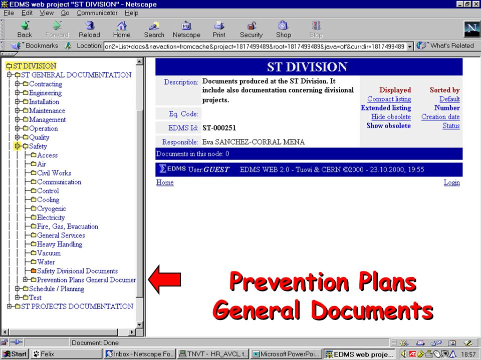 Prevention Plans General Documents