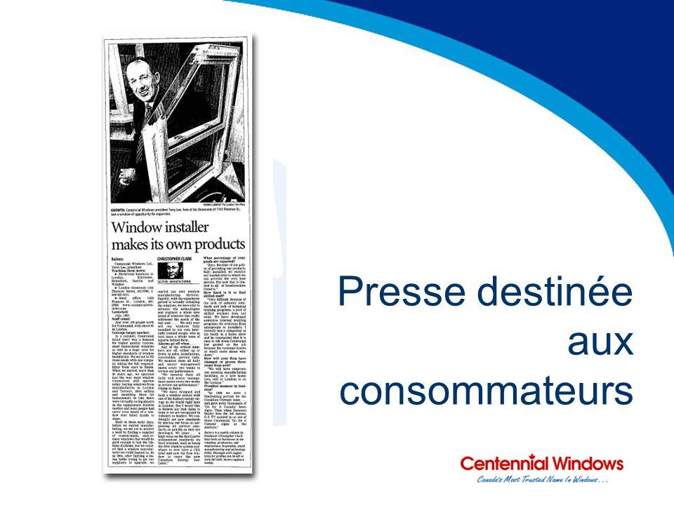 Presse destinée aux consommateurs