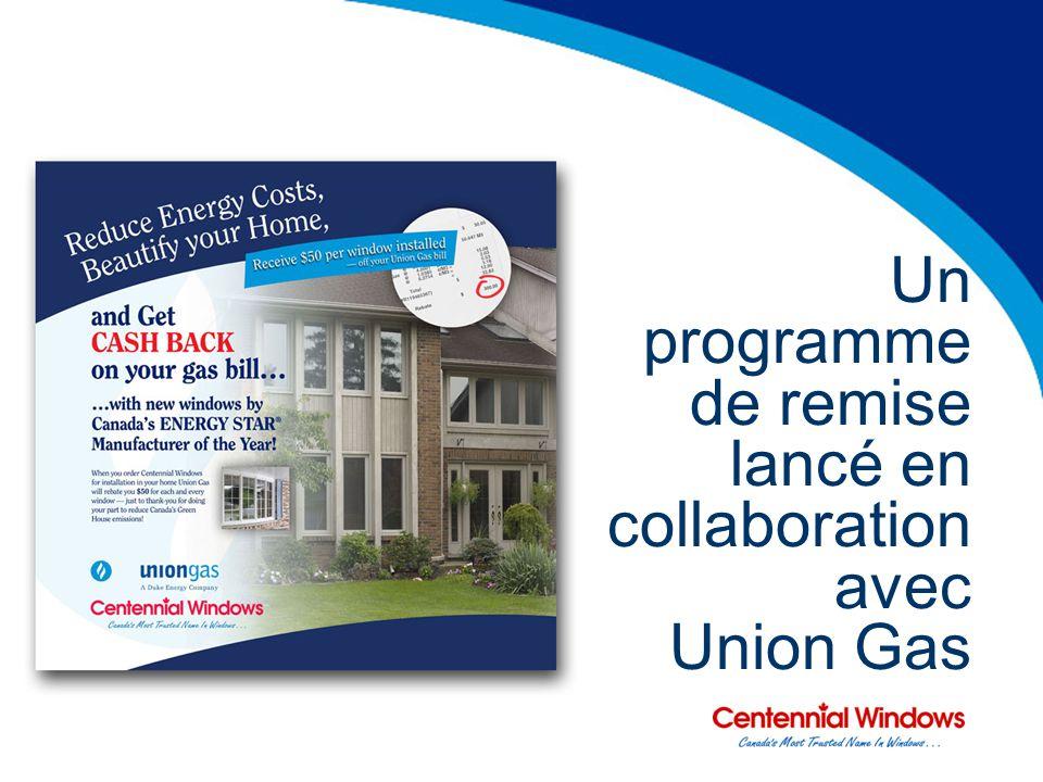 Un programme de remise lancé en collaboration avec Union Gas