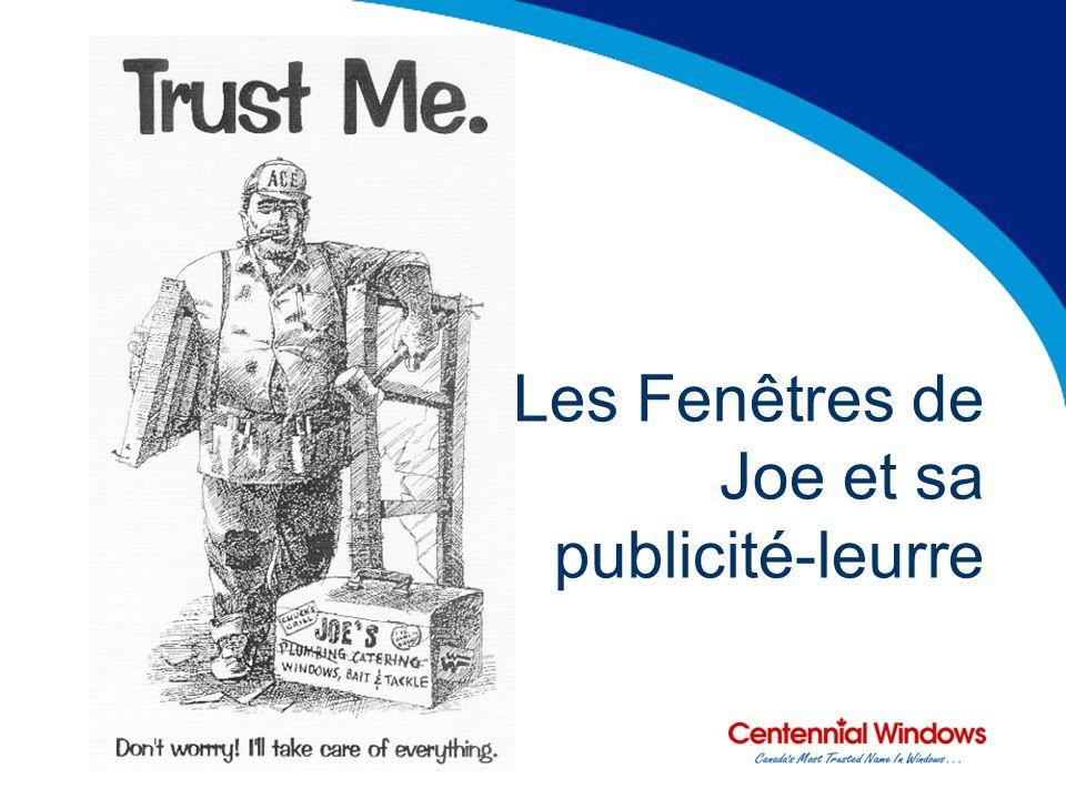 Les Fenêtres de Joe et sa publicité-leurre