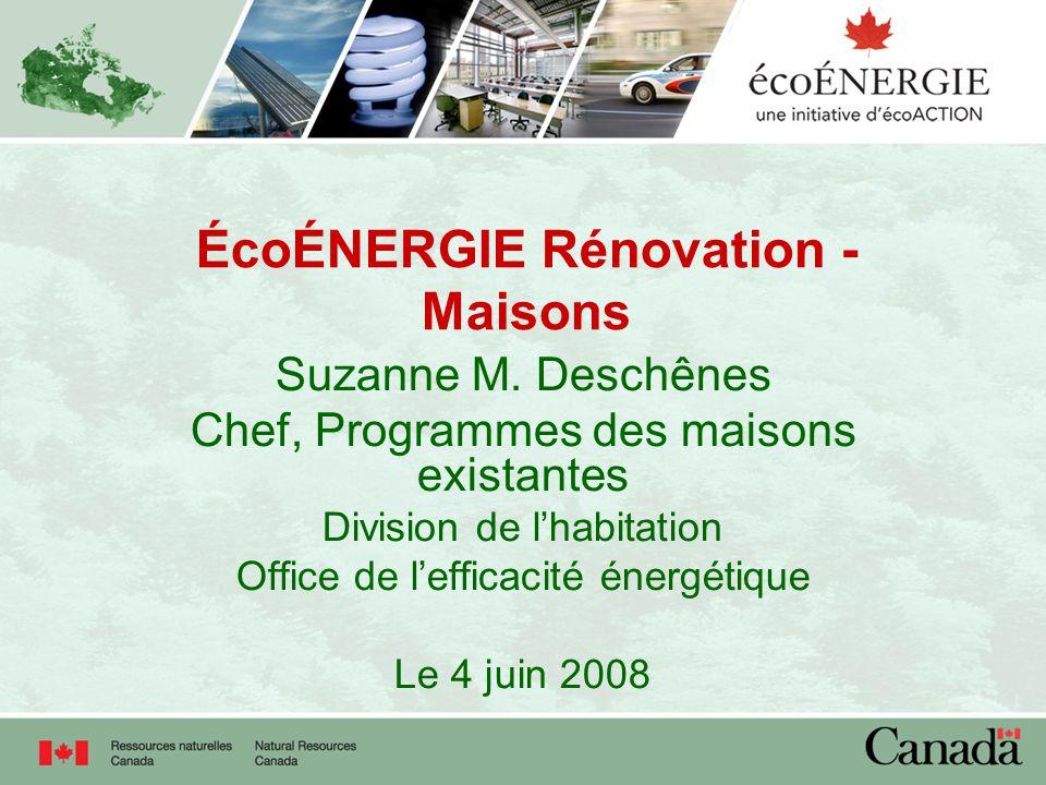 ÉcoÉNERGIE Rénovation - Maisons Suzanne M.
