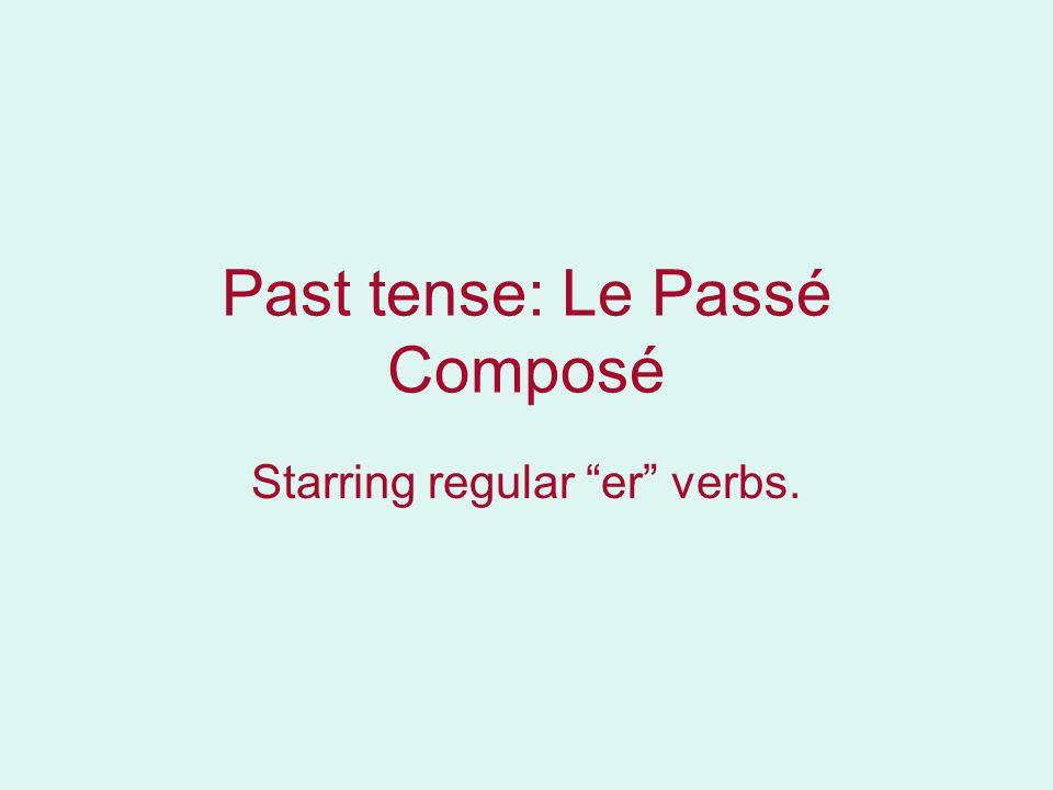 Past tense: Le Passé Composé Starring regular er verbs.