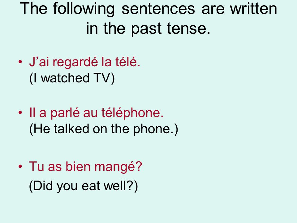 Can you figure out how to form the past tense of er verbs.