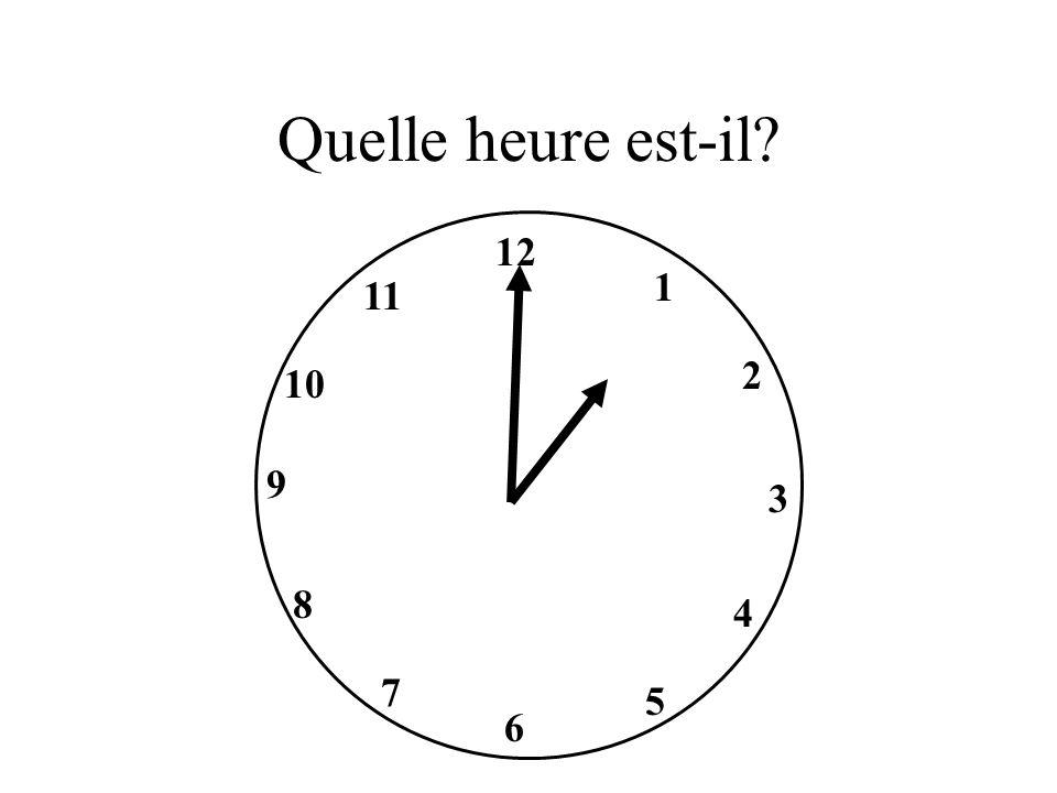 Il est une heure.