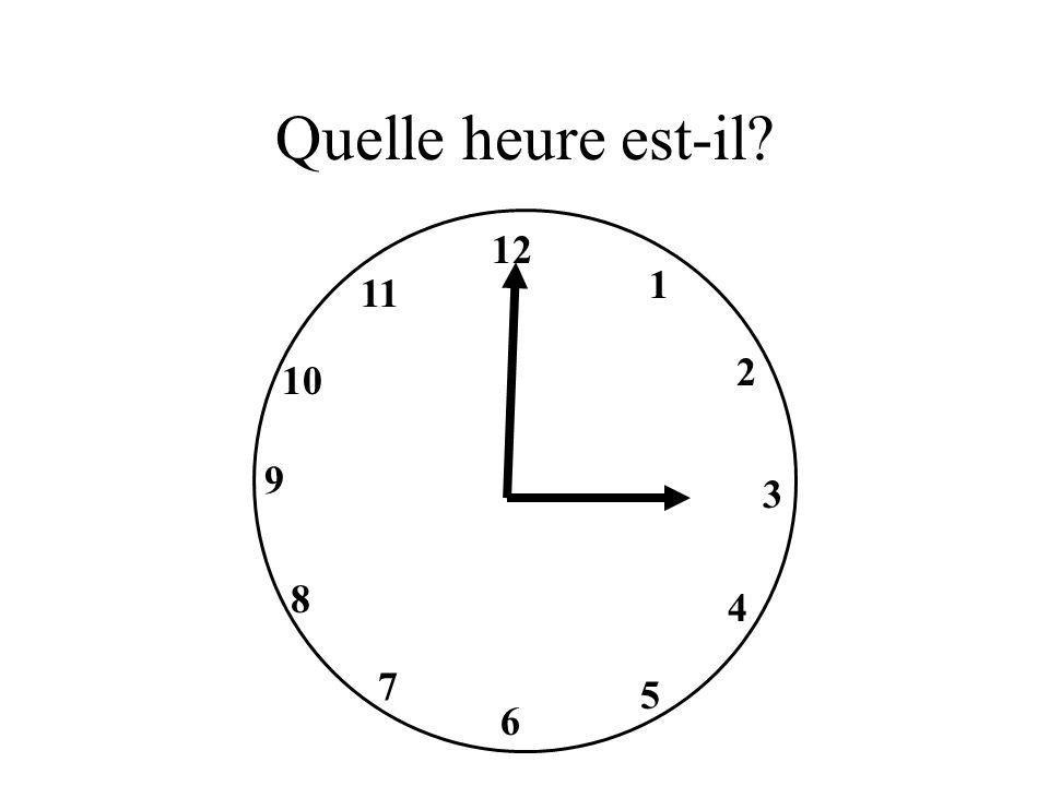 Il est trois heures.
