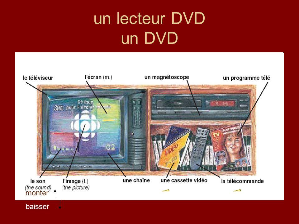 un lecteur DVD un DVD monter baisser
