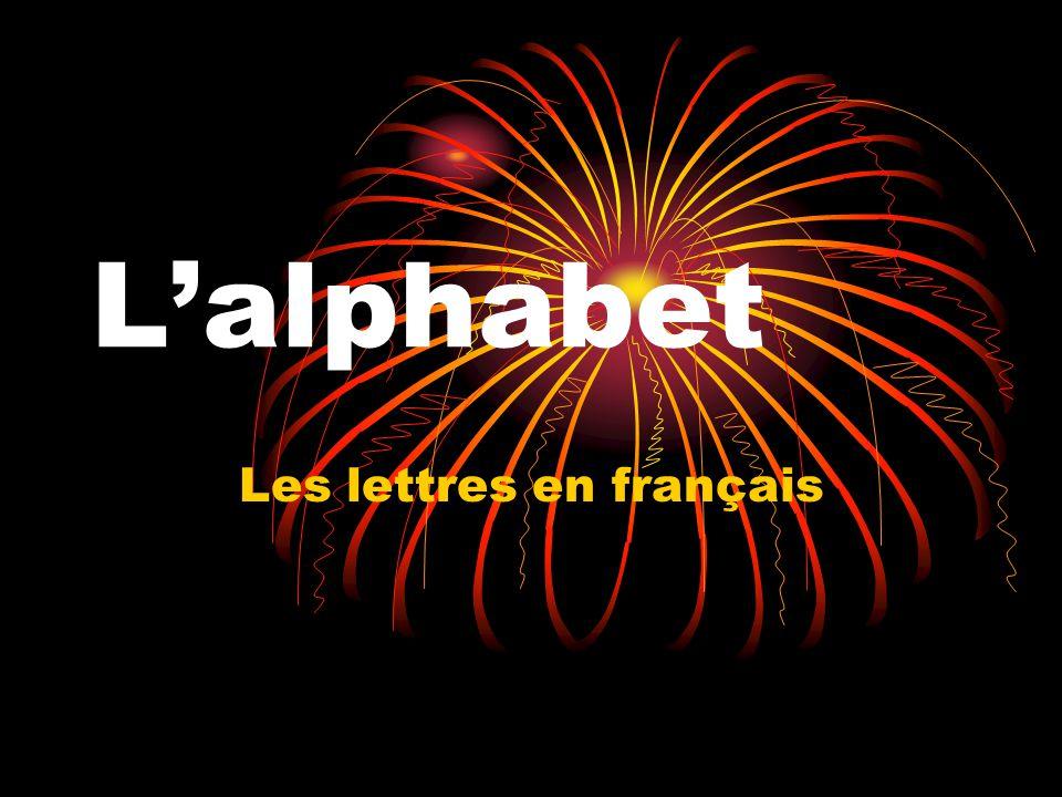 Lalphabet Les lettres en français