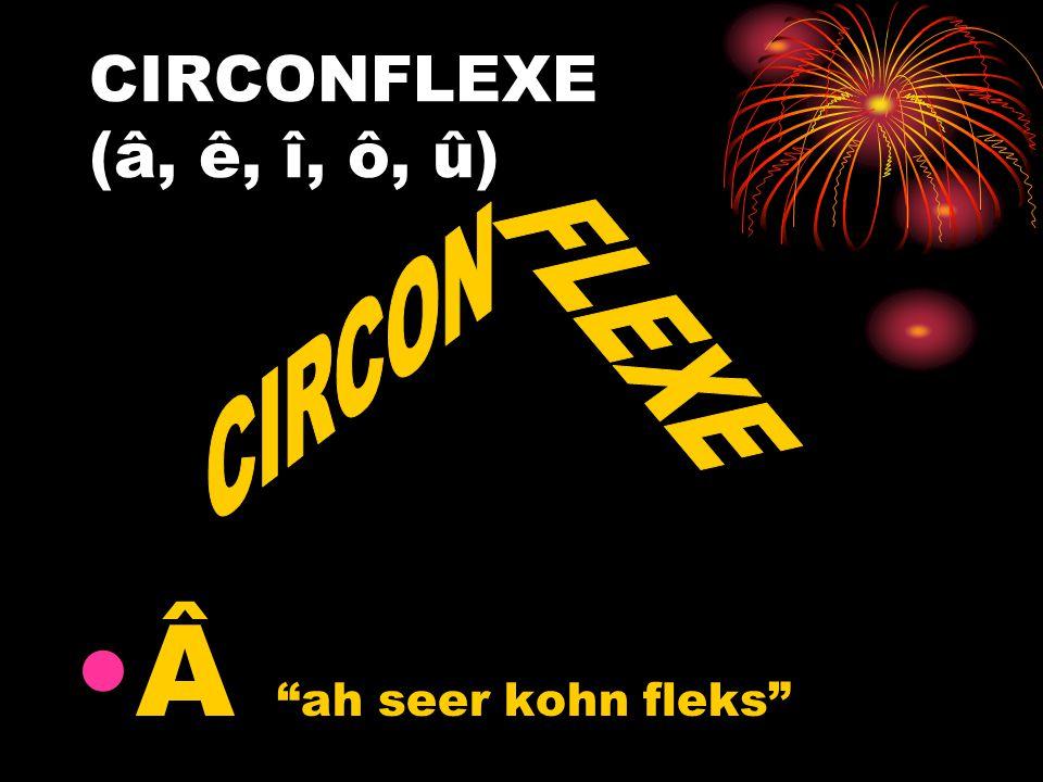 CIRCONFLEXE (â, ê, î, ô, û) Â ah seer kohn fleks