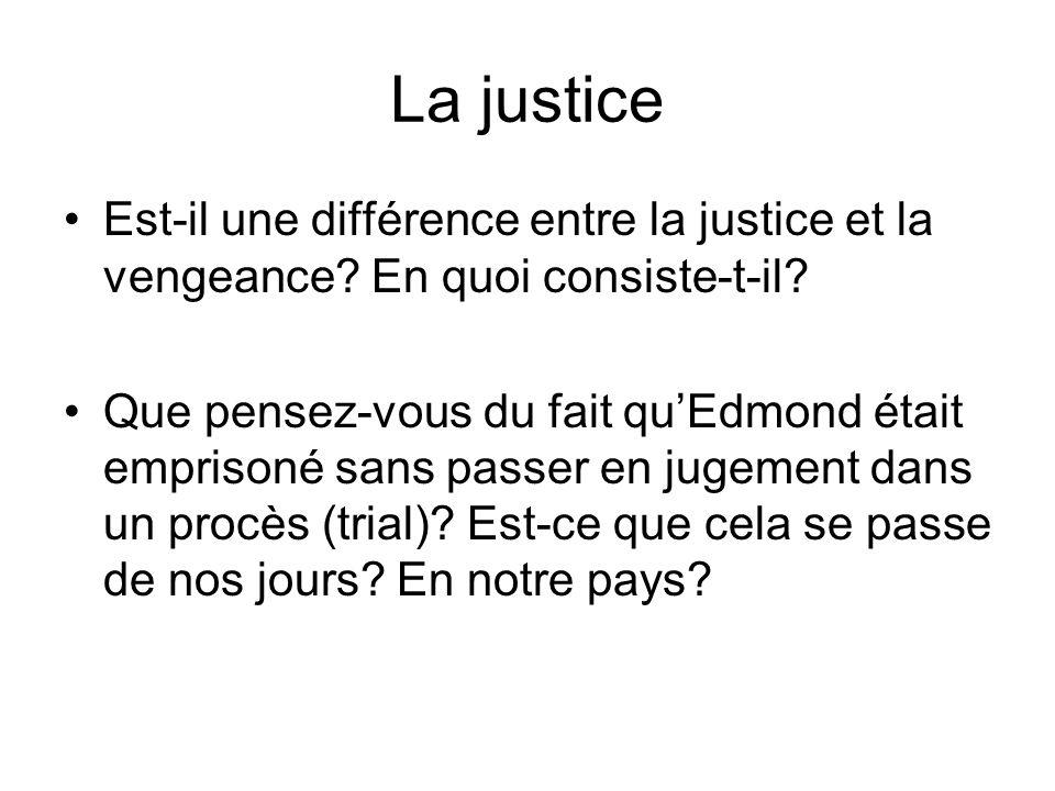 La justice Est-il une différence entre la justice et la vengeance.