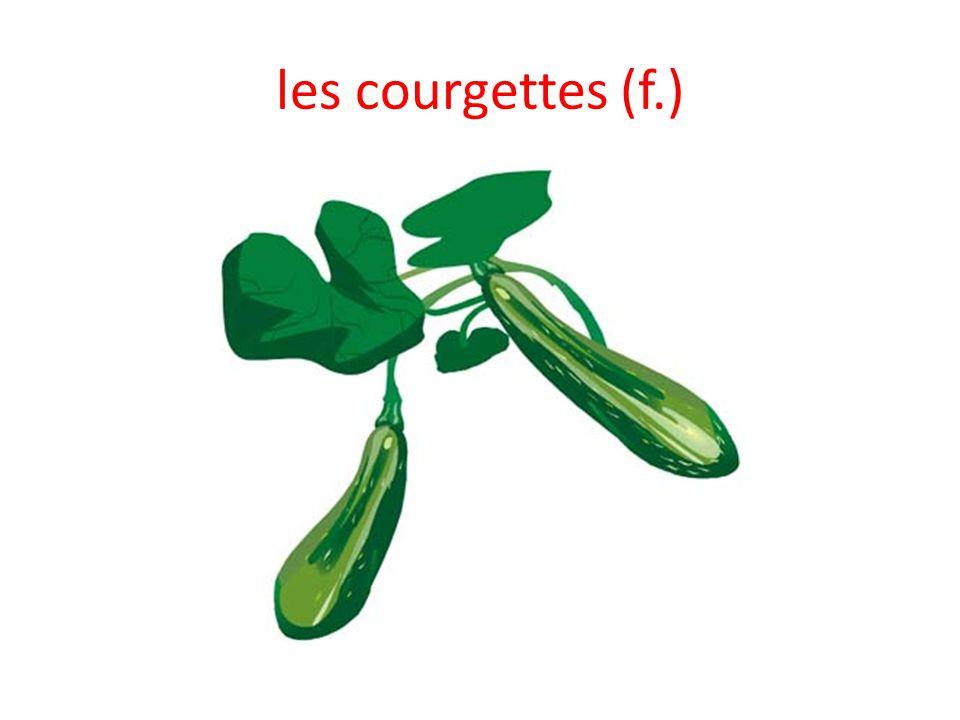 les courgettes (f.)