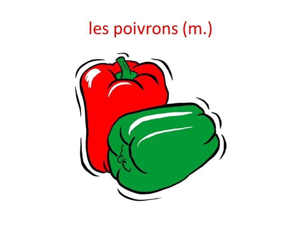 les poivrons (m.)
