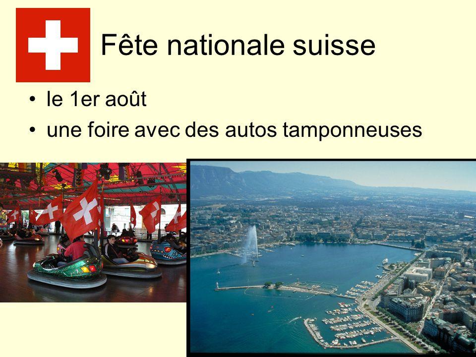 Fête nationale suisse le 1er août une foire avec des autos tamponneuses