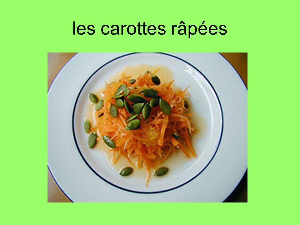 les carottes râpées