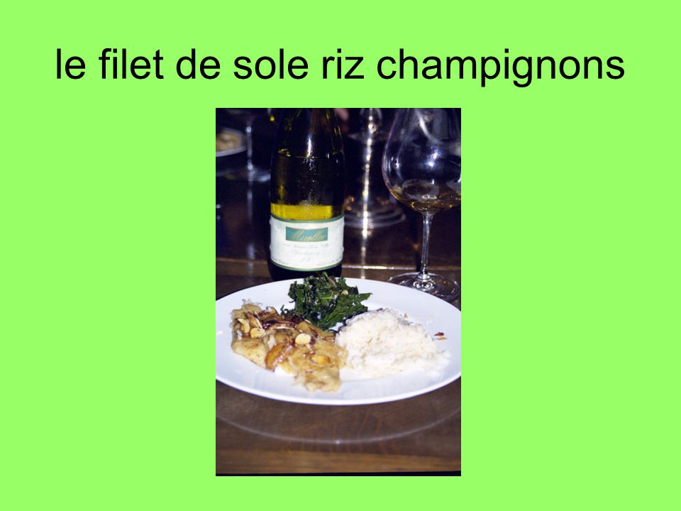 le filet de sole riz champignons