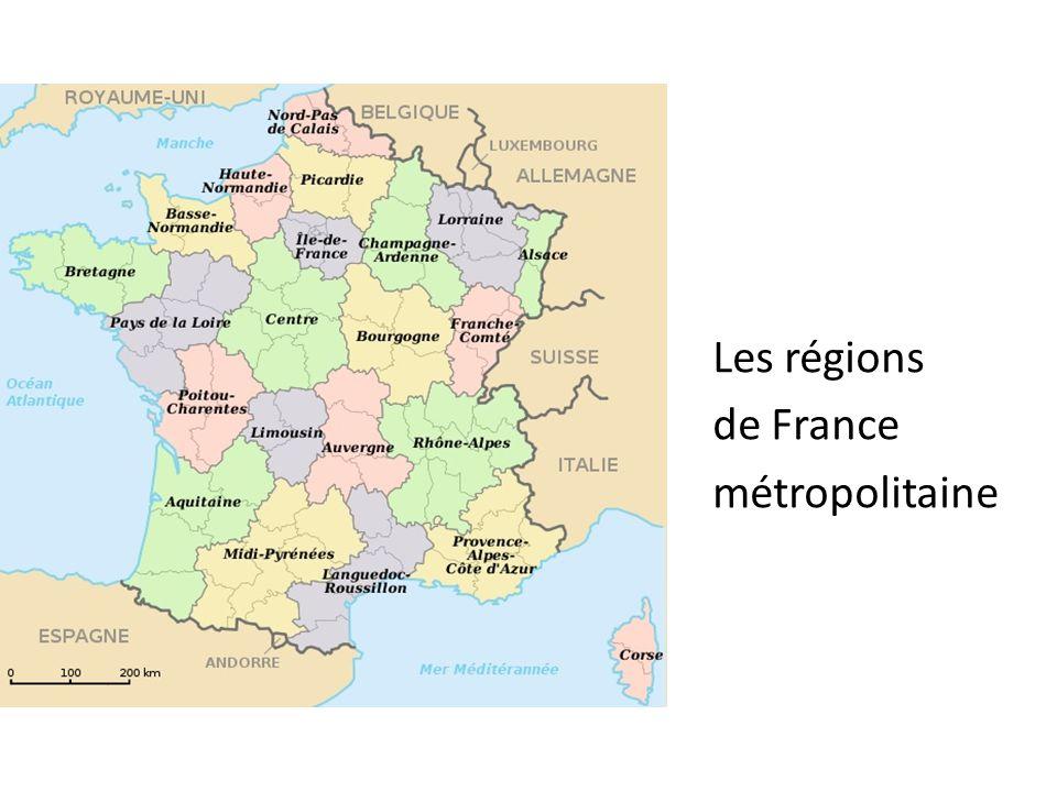 Les régions de France métropolitaine
