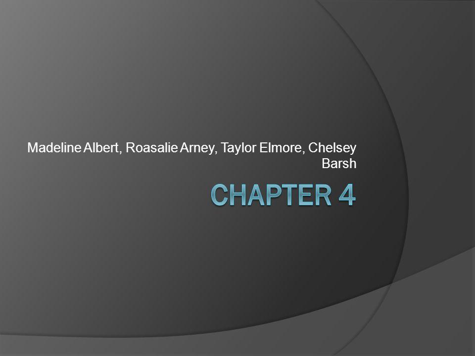 Madeline Albert, Roasalie Arney, Taylor Elmore, Chelsey Barsh