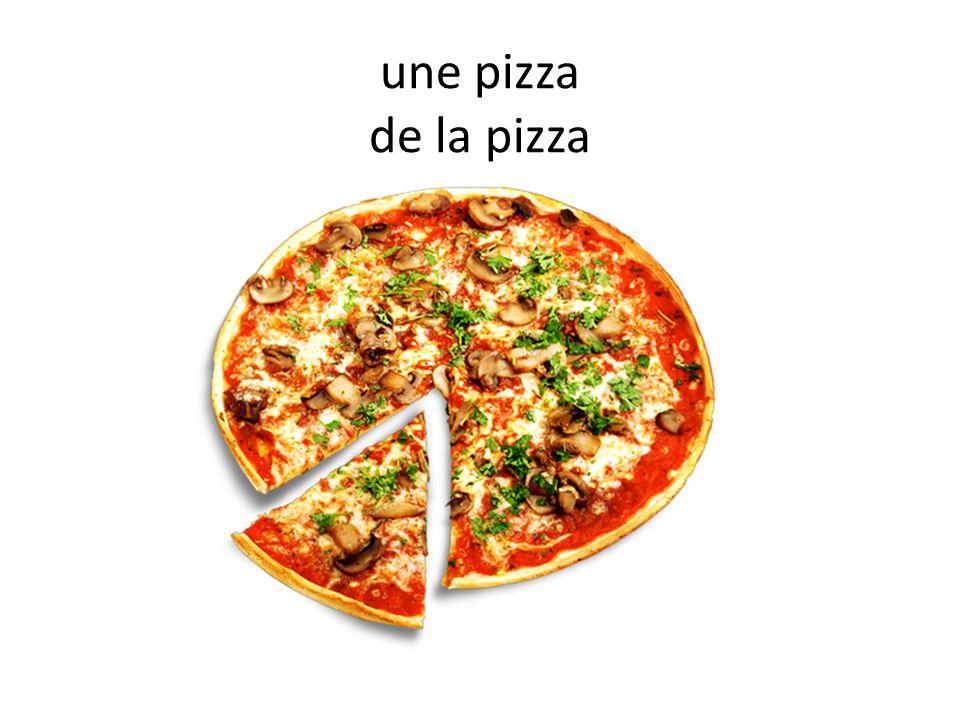 une pizza de la pizza