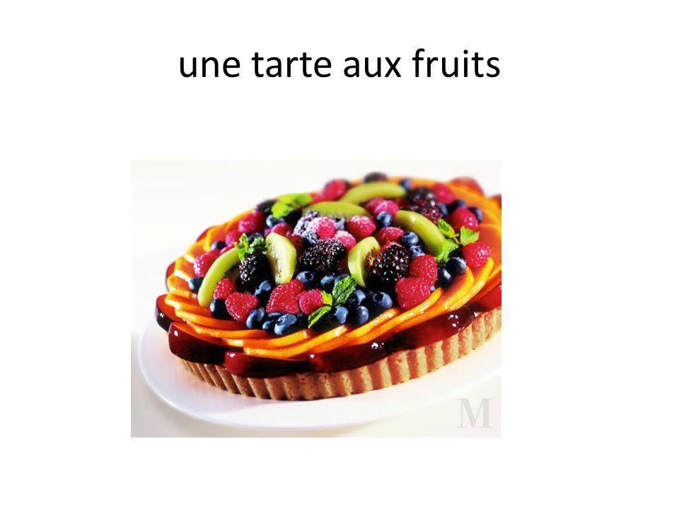 une tarte aux fruits