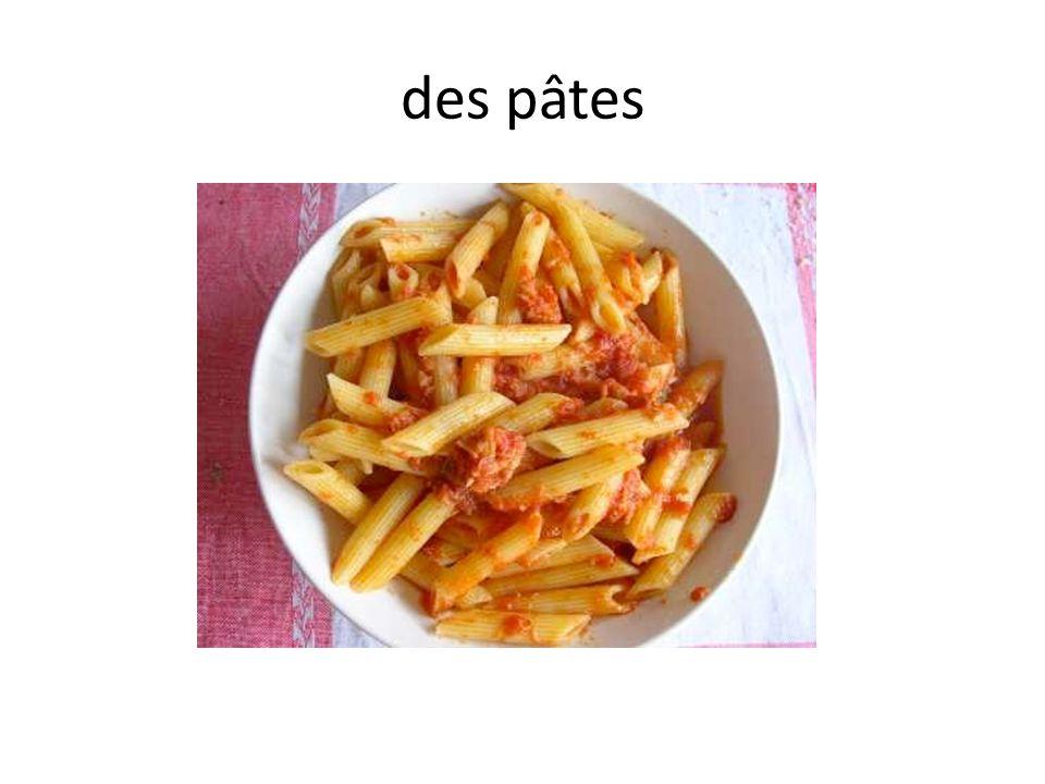 des pâtes