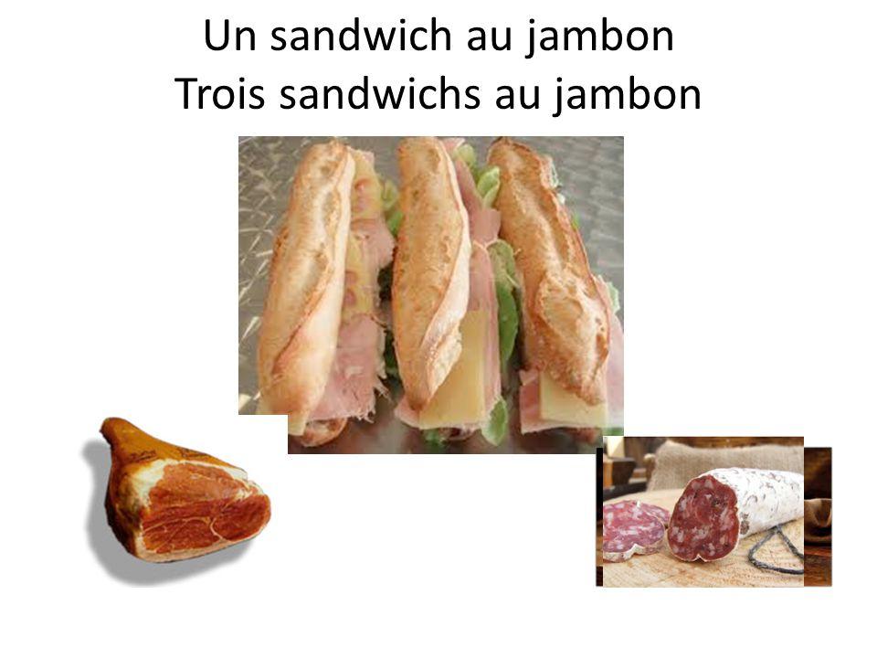 Un sandwich au saucisson