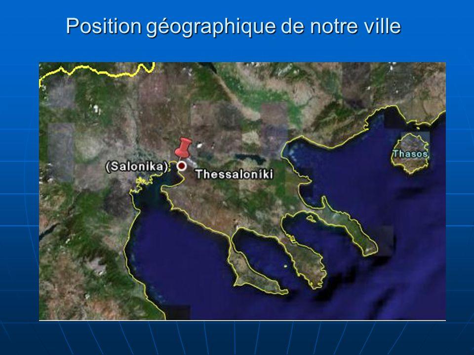 Position géographique de notre ville
