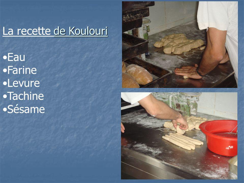 de Koulouri La recette de Koulouri Eau Farine Levure Tachine Sésame