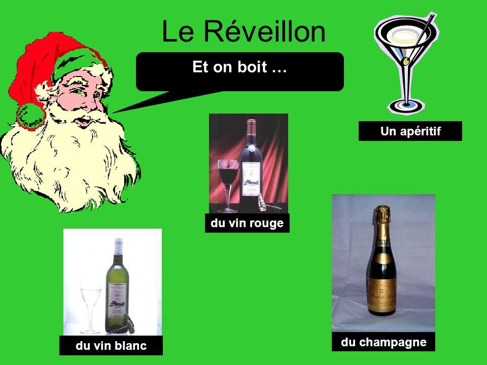Le Réveillon Et on boit … Un apéritif du vin rouge du vin blanc du champagne