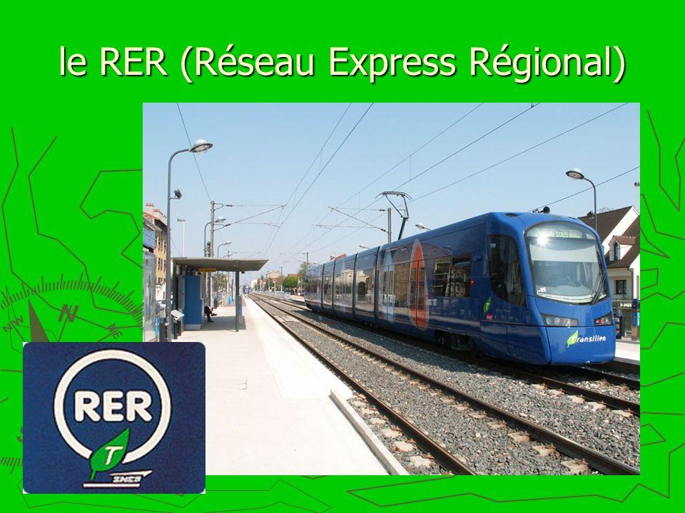 le RER (Réseau Express Régional)