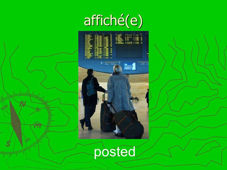 affiché(e) posted