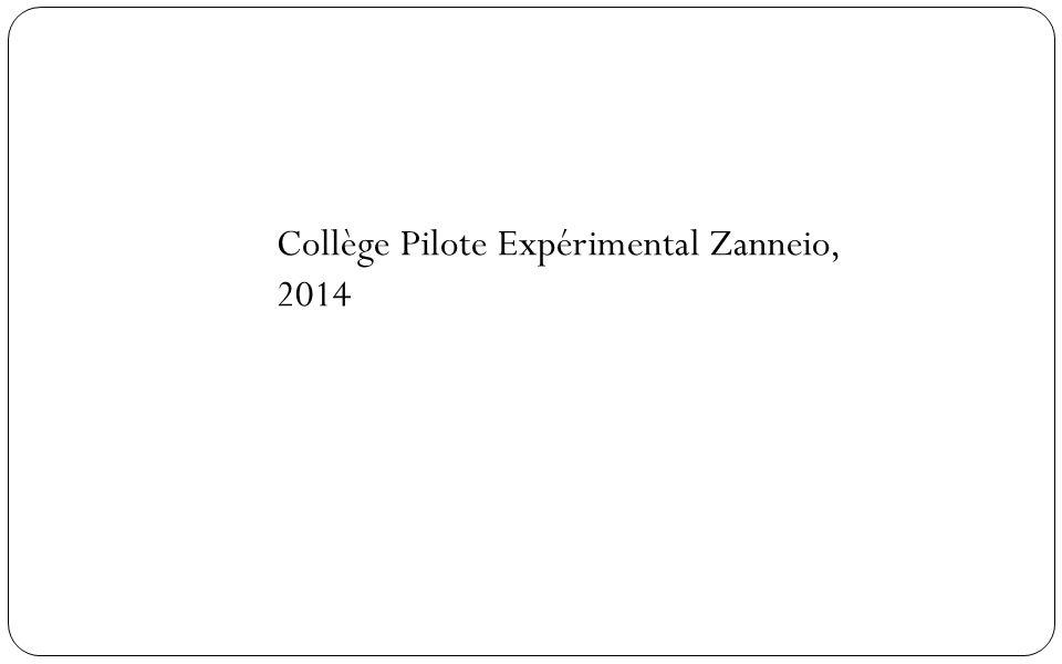 Collège Pilote Expérimental Zanneio, 2014