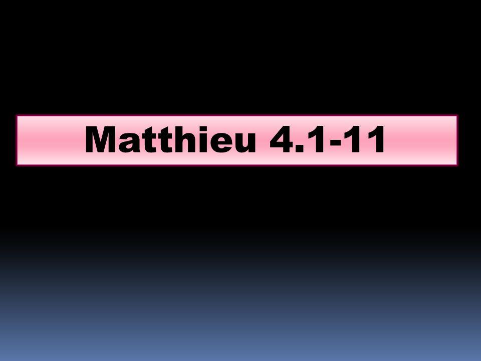 Matthieu 4.1-11