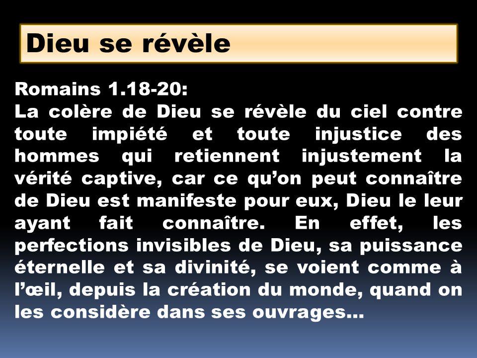 Dieu nutilise pas toute sa puissance et toute son autorité en permanence 1 Jean 5.18-20 : Nous savons que quiconque est né de Dieu ne pèche point ; mais celui qui est né de Dieu se garde lui- même, et le malin ne le touche pas.