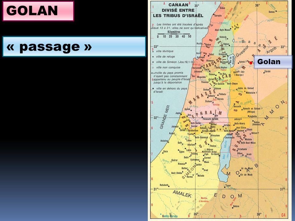 Golan GOLAN « passage »