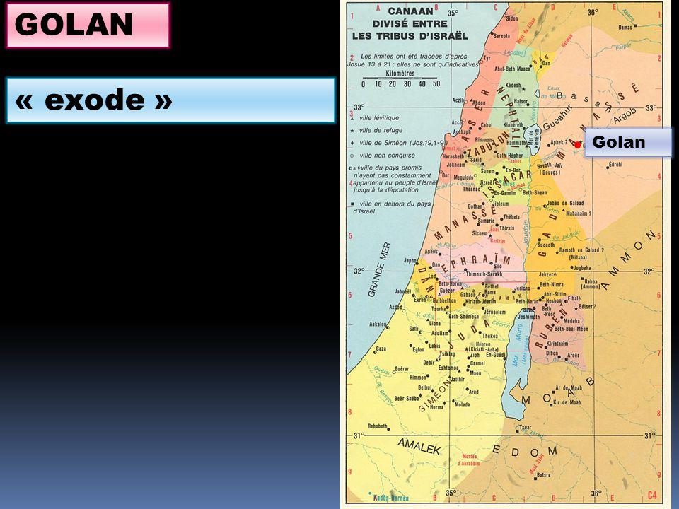 Golan GOLAN « exode »