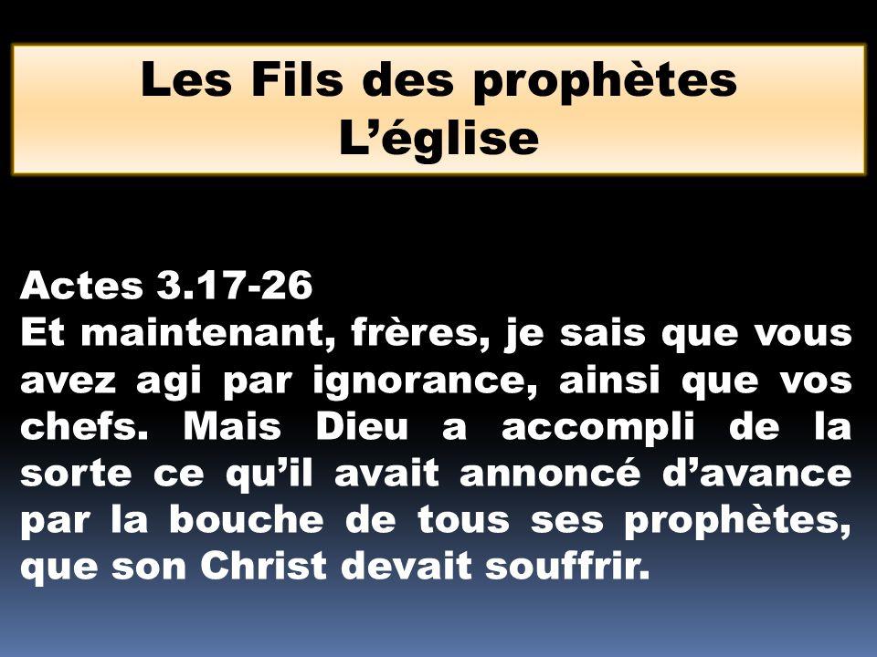 Actes 3.17-26 Et maintenant, frères, je sais que vous avez agi par ignorance, ainsi que vos chefs. Mais Dieu a accompli de la sorte ce quil avait anno